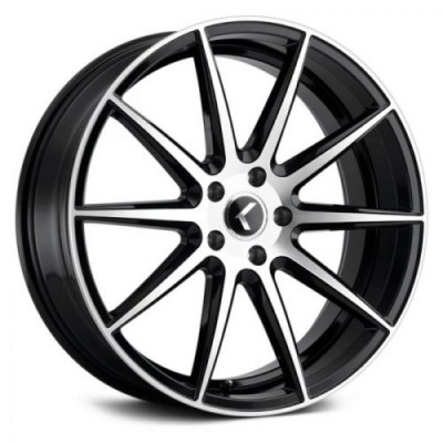 Kraze 194 Black Machine Lip wheel (18X8, 5x114.3, 72.62, 40 offset)
