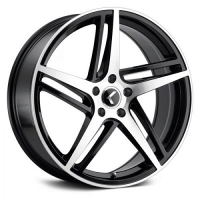 Kraze 195 Black Machine Lip wheel (18X8, 5x120, 74.1, 40 offset)