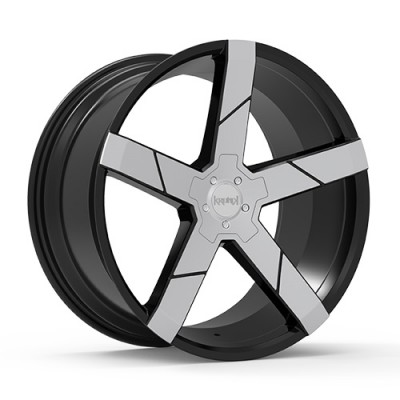 KRONIK GHOST Gloss Black Machine wheel (22X8.5, 5x114.3, 73.1, 40 offset)