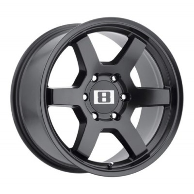 Level 8 Motorsports MK6 Matte Black wheel (16X8, 6x114.3, 71.5, 0 offset)
