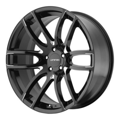 Lorenzo WL36 Gloss Black Machine wheel (22X11, 5x115, 57.10, 40 offset)