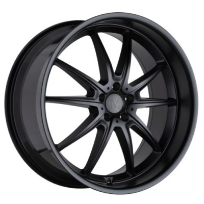 Mandrus ARGENT Matte Black wheel (17X8, 5x112, 66.6, 25 offset)