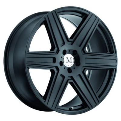 Mandrus ATLAS Matte Black wheel (17X8, 5x112, 66.6, 25 offset)