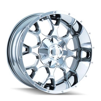 Mayhem 8015 Warrior PVD Chrome wheel (20X10, 6x135/139.7, 108, -25 offset)