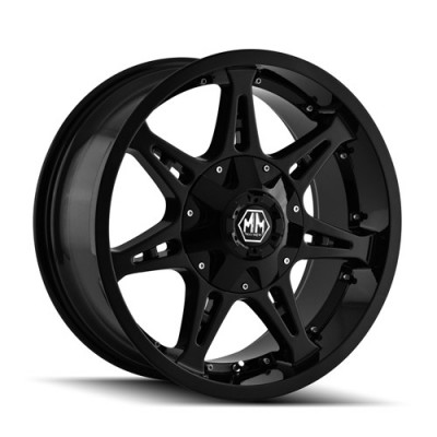 Mayhem 8060 Missile Black wheel (22X14, 5x139.7, 108, -76 offset)