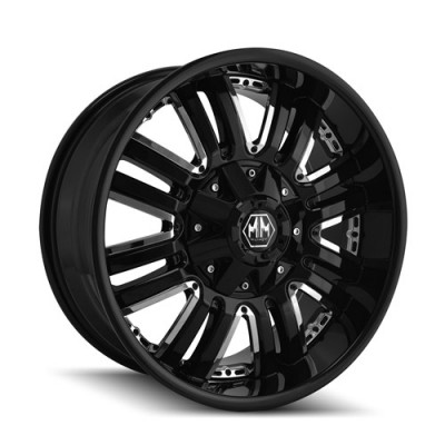 Mayhem 8070 Assault Black wheel (18X9, 5x139.7, 108, -12 offset)