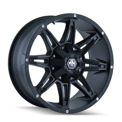 Mayhem RAMPAGE Matte Black wheel (17X9, 6x135/139.7, 108, 18 offset)