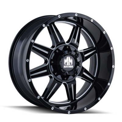 Mayhem MONSTIR Gloss Black Machine wheel (22X10, 6x135/139.7, 108, -19 offset)
