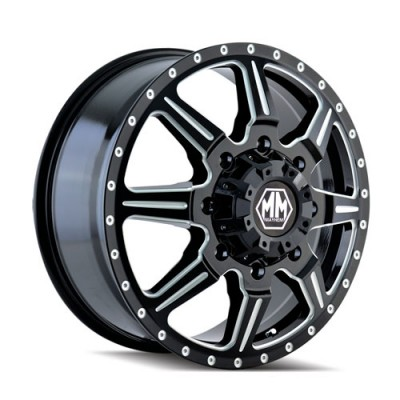 Mayhem MONSTIR Machine Black wheel (19.5X6.75, 8x210, 154.2, 102 offset)