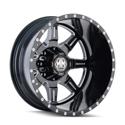 Mayhem MONSTIR Machine Black wheel (19.5X6.75, 8x170, 124.9, -143 offset)