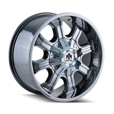 Mayhem 8102 Beast PVD Chrome / Chrome Vaporise, 20X9, 6x135/139.7 ,(déport/offset 0 ) 108
