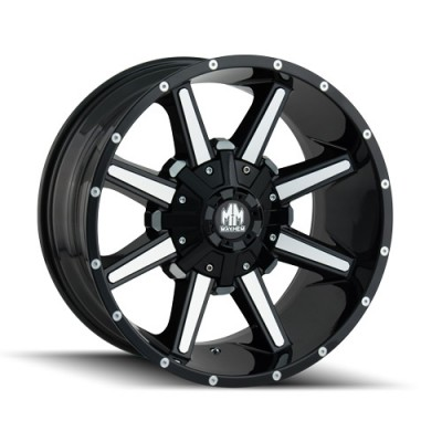 Mayhem ARSENAL Gloss Black Machine wheel (17X9, 5x114.3/127, 87, 18 offset)