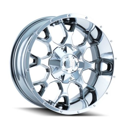 Mayhem WARRIOR Chrome wheel (20X10, 5x127/139.7, 87, -25 offset)