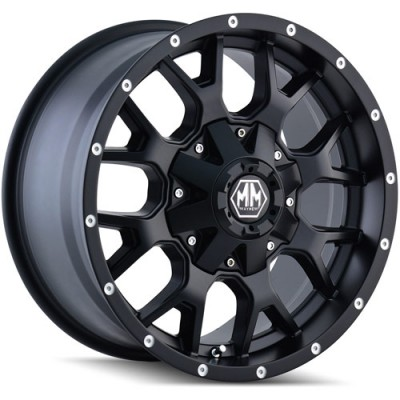 Mayhem WARRIOR Matte Black wheel (17X9, 6x114.3/139.7, 78.3, 18 offset)