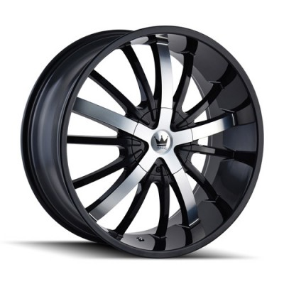 Mazzi ESSENCE Gloss Black Machine wheel (22X9.5, 5x114.3/120, 74.1, 35 offset)