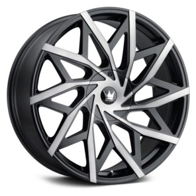 Mazzi BIG EASY Matte Black wheel (18X8, 5x110/115, 72.6, 35 offset)