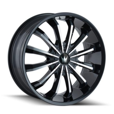 Mazzi FUSION Gloss Black Machine wheel (20X8.5, 5x115/120, 74.1, 18 offset)