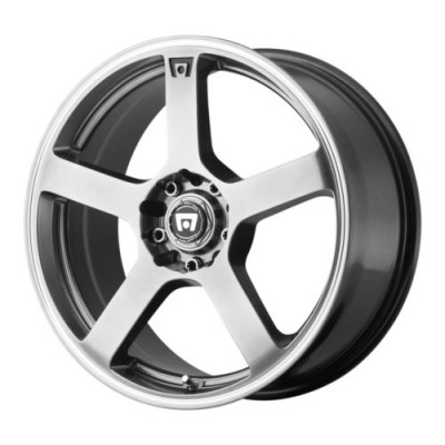 Motegi MR116 Dark Silver Machine wheel (18X8, 5x108/114.3, 72.6, 45 offset)