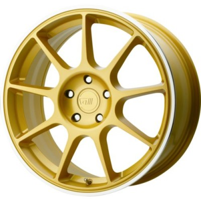 Motegi MR138 Gold wheel (19X8.5, 5x100, 72.60, 45 offset)