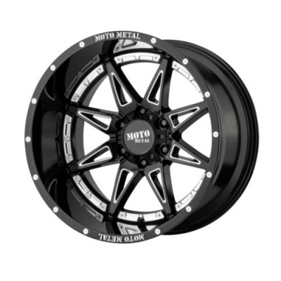 Moto Metal HYDRA Gloss Black Machine wheel (17X9, 8x165.1, 125.5, -12 offset)