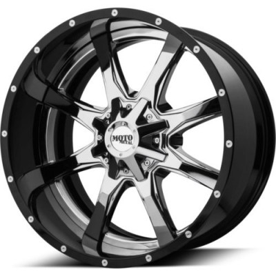 Moto Metal MO201 Chrome Black Insert wheel (20X12, 8x170, 125.5, -44 offset)