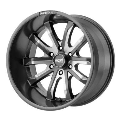 Moto Metal MO983 DAGGER Machine Grey wheel (22X10, 8x165.1, 125.50, -18 offset)
