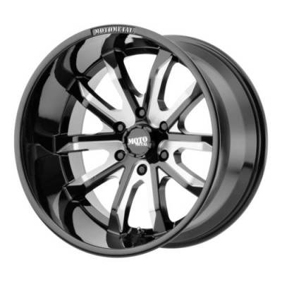 Moto Metal MO983 DAGGER Gloss Black Machine wheel (17X9, 6x139.7, 106.25, -12 offset)