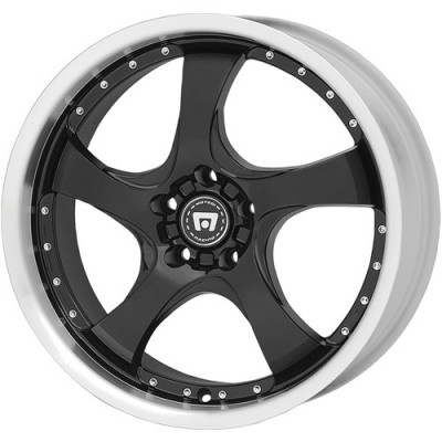 Motegi DV5, Gloss Black With Clearcoat/Noir lustré avec vernis, 17X7, 4x100, (offset/déport 42) ,72.6