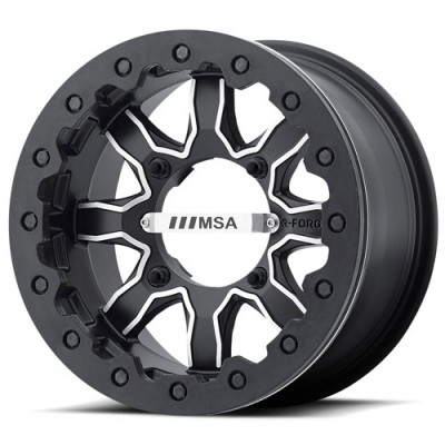 MSA Offroad Wheels F1 R-FORGED Machine Black wheel (14X7, 4x110, 86.00, 0 offset)