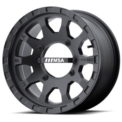 MSA Offroad Wheels F2 R-FORGED Satin Black wheel (14X7, 4x110, 86.00, 0 offset)