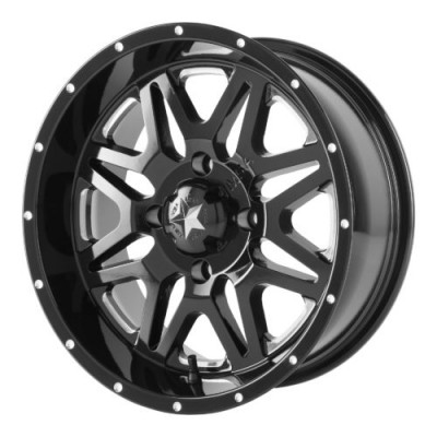MSA Offroad Wheels M26 VIBE Machine Black wheel (16X7, 4x110, 86.00, 0 offset)