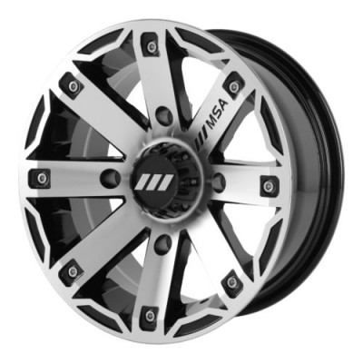 MSA Offroad Wheels M27 RAGE Machine Black wheel (12X7, 4x110, 86.00, -47 offset)