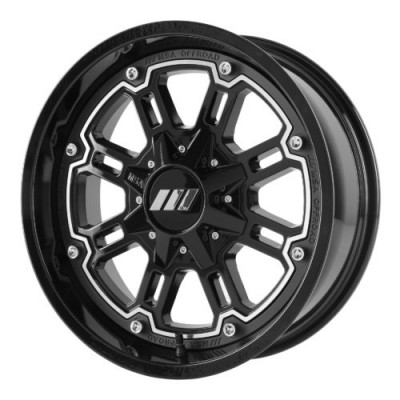 MSA Offroad Wheels M30 THROTTLE Machine Black wheel (14X7, 4x110, 86.00, 0 offset)