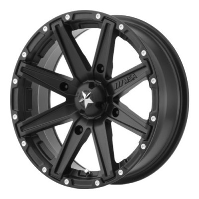 MSA Offroad Wheels M33 CLUTCH Satin Black wheel (12X7, 4x110, 86.00, 10 offset)