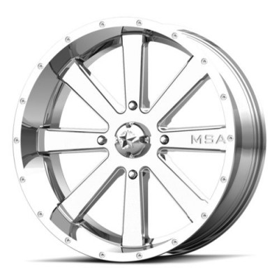 MSA Offroad Wheels M34 FLASH Chrome wheel (18X7, 4x137, 112.00, 0 offset)