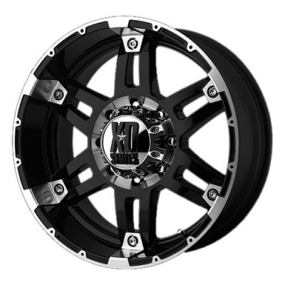 KMC Wheels Spy Machine Black wheel (18X8.5, 5x139.7, 130.1, 18 offset)