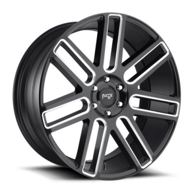 NICHE Élan M096 Matt Black Machine wheel (20X9, 6x139.7, 78.1, 30 offset)