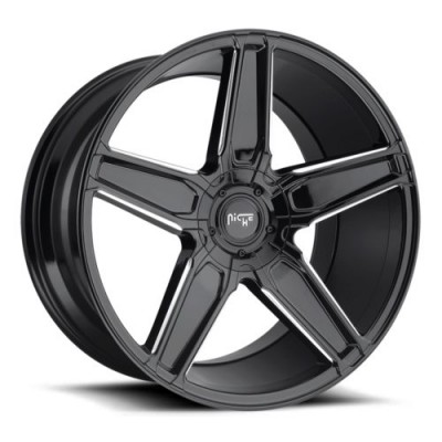 NICHE Cannes M180 Gloss Black Machine wheel (20X9, 5x112/114.3, 72.6, 25 offset)