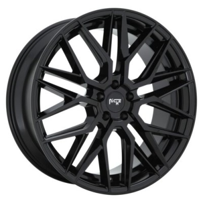NICHE GAMMA Gloss Black wheel (18.00X8.00, 5x112.00, 66.5, 42 offset)