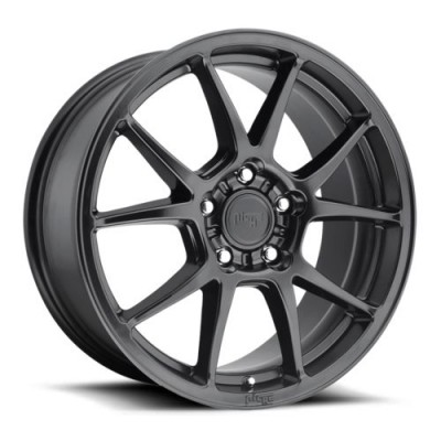 NICHE Messina M174 Matte Black wheel (17X8, 5x120, 72.5, 40 offset)