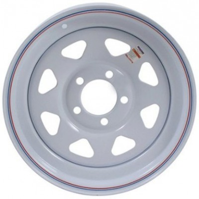 Odessa Trailer Wheel White wheel (12X4, 5x4.5, 71.12, -3.2 offset)