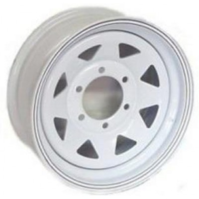Odessa Trailer Wheel White wheel (15X6, 6x5.5, 108.71, 0 offset)