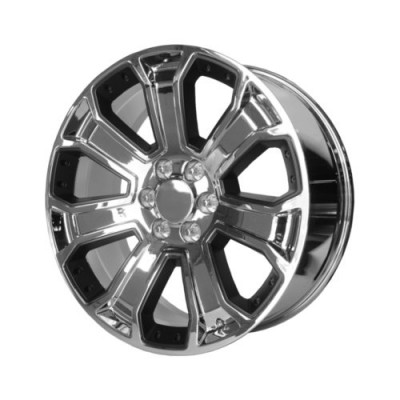 OE Creations PR113 Chrome Black Insert wheel (22X9, 6x139.7, 78.1, 24 offset)