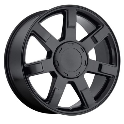 OE Creations PR122 Gloss Black wheel (22X9, 6x139.7, 78.30, 31 offset)