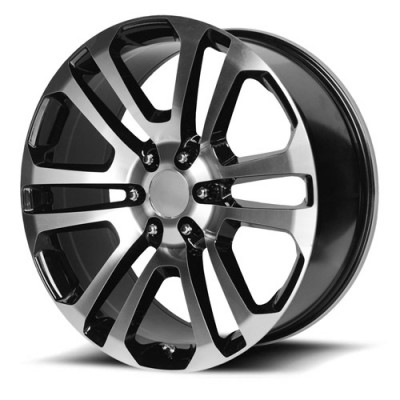 OE Creations PR158 Gloss Black Machine wheel (20X9, 6x139.7, 78.30, 24 offset)