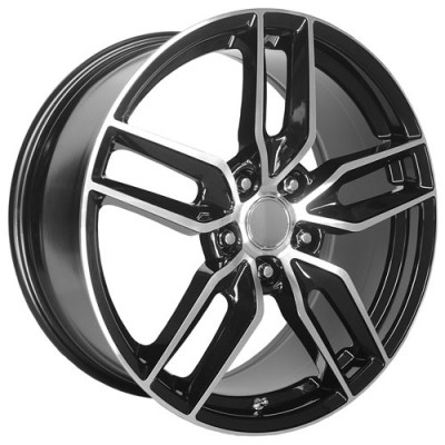 OE Creations PR160 Gloss Black Machine wheel (19X10, 5x120.65, 70.30, 78 offset)