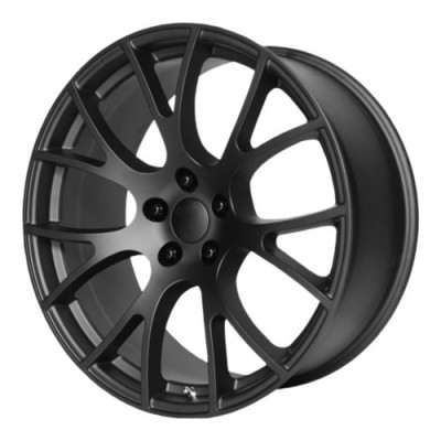 OE Creations PR161 Matte Black wheel (22X9, 5x115, 71.50, 18 offset)