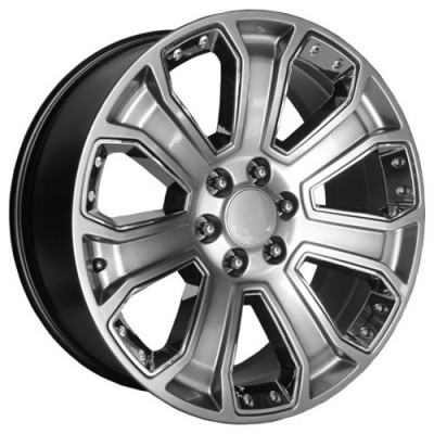 OE Creations PR162 Silver wheel (22X9, 6x139.7, 78.30, 24 offset)