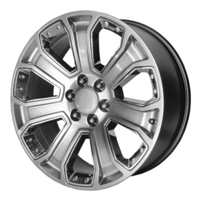 OE Creations PR162 Machine Silver wheel (22X9, 6x139.7, 78.30, 24 offset)