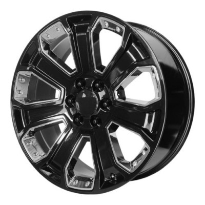 OE Creations PR162 Gloss Black Machine wheel (22X9, 6x139.7, 78.30, 24 offset)